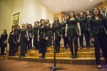 The SF State University Chorus performing in the 13th annual Harvest Concert at Lakeside Church Friday Nov. 14, 2014. Martin Bustamante/Xpress.