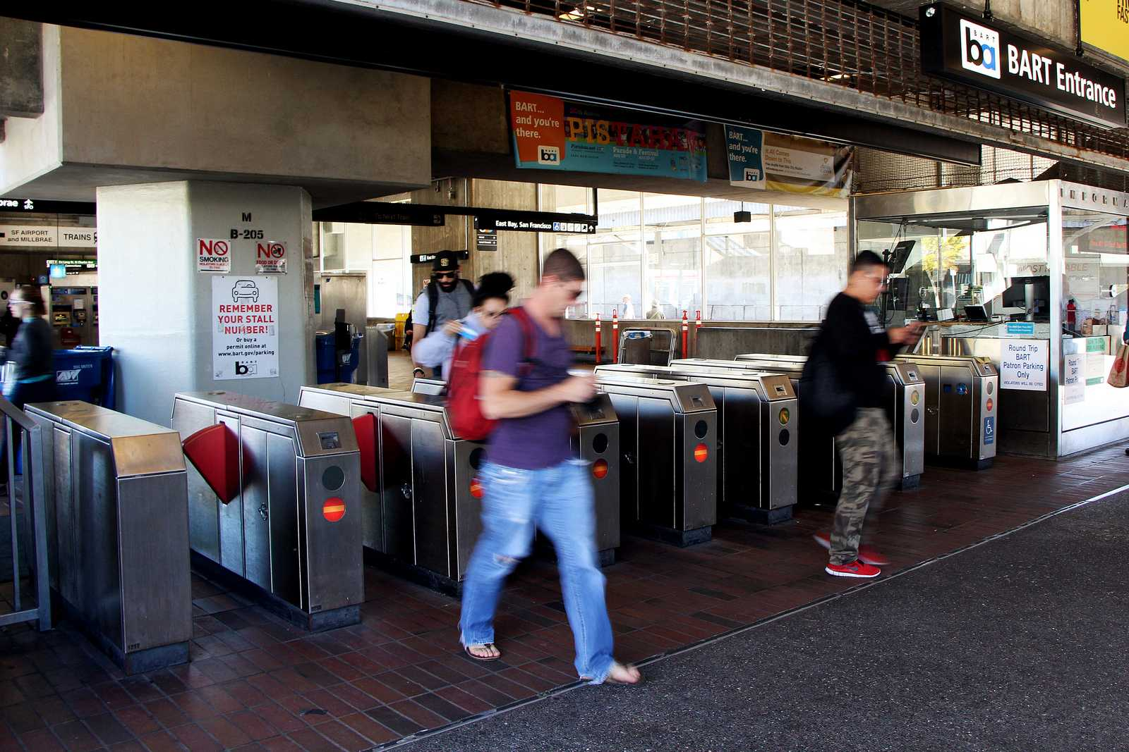 The Daly City BART station coninues to operate normally on Friday, Oct. 24th, 2013. The BART union and management are still in negotiations, which still leaves the possibility of another BART strike next week. Photo by Gavin McIntyre / Xpress